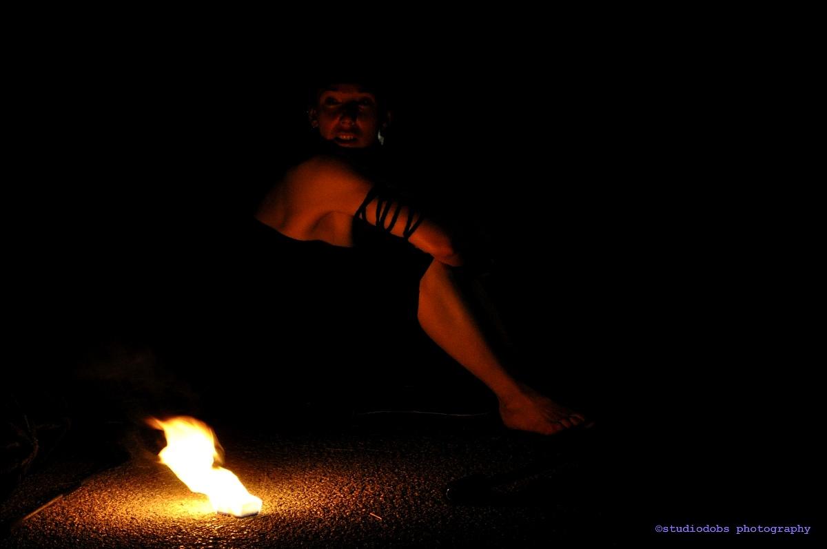 Resting fire dancer ......