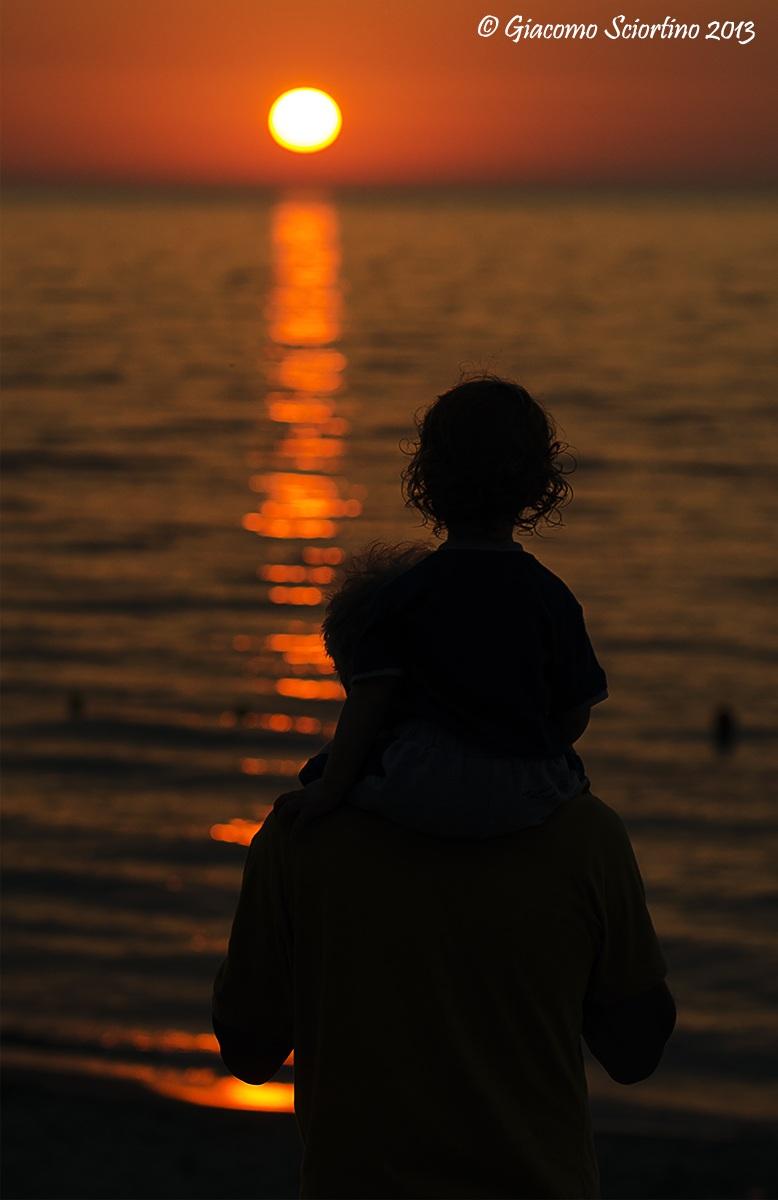 Admiring the sunset...