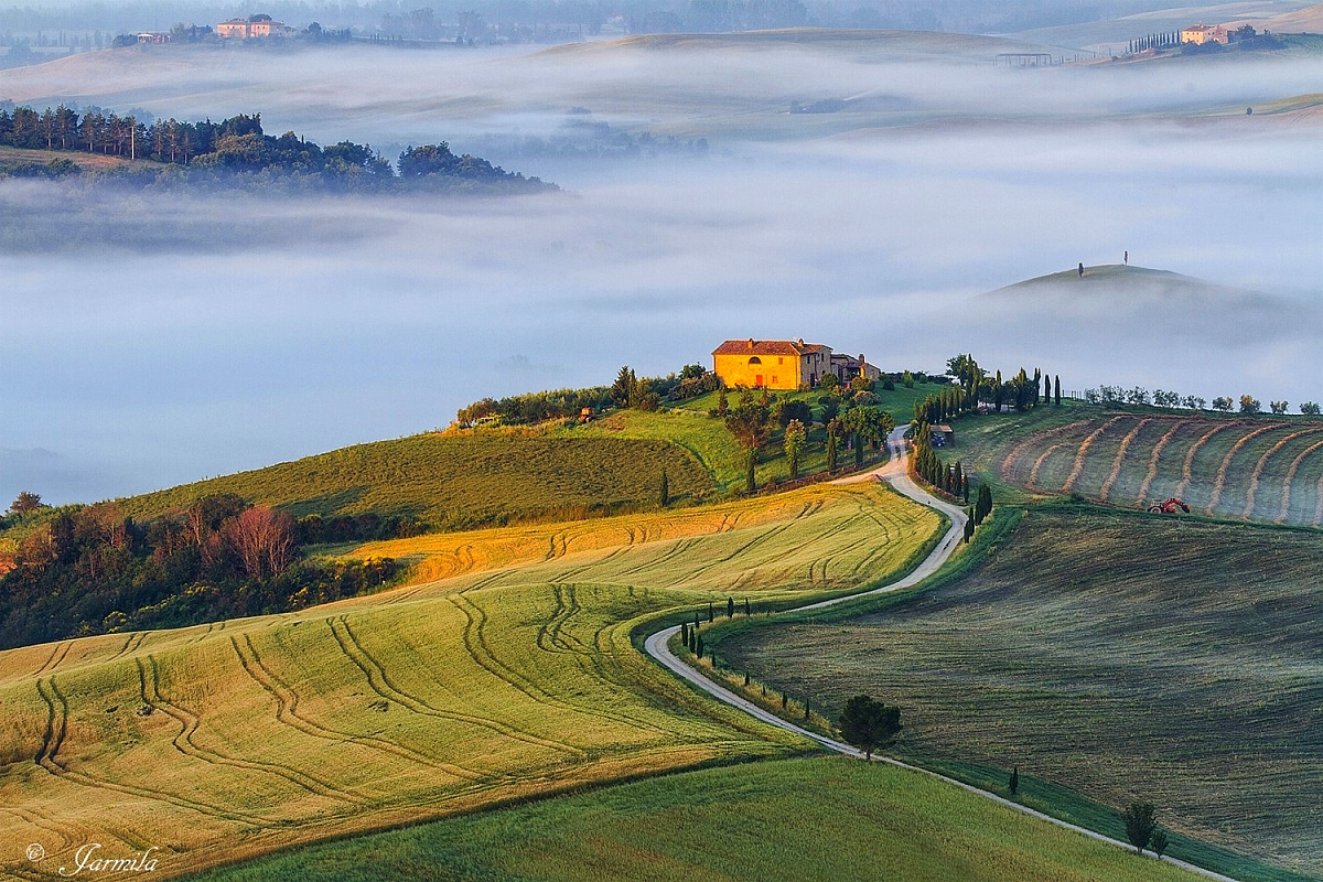 Good morning from the Val D'Orcia...