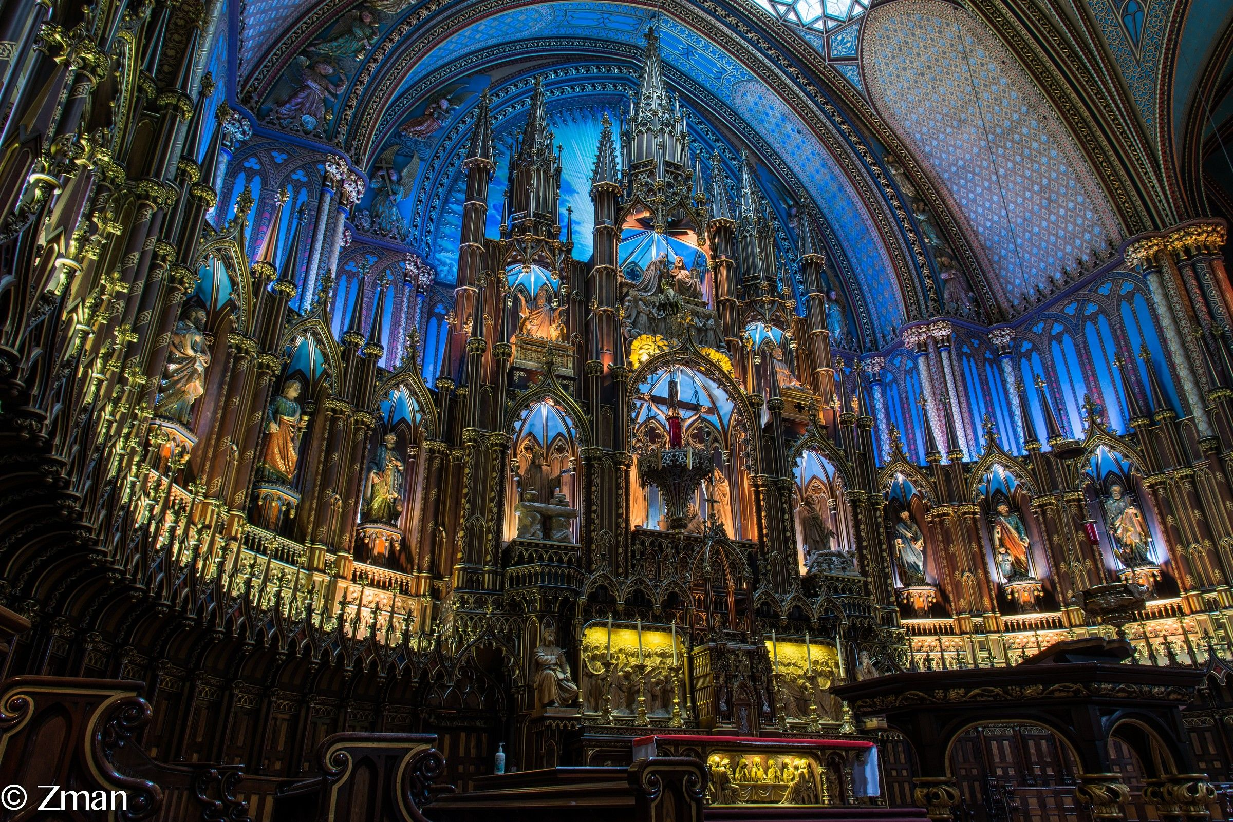 Notre Dame Church In Montreal...