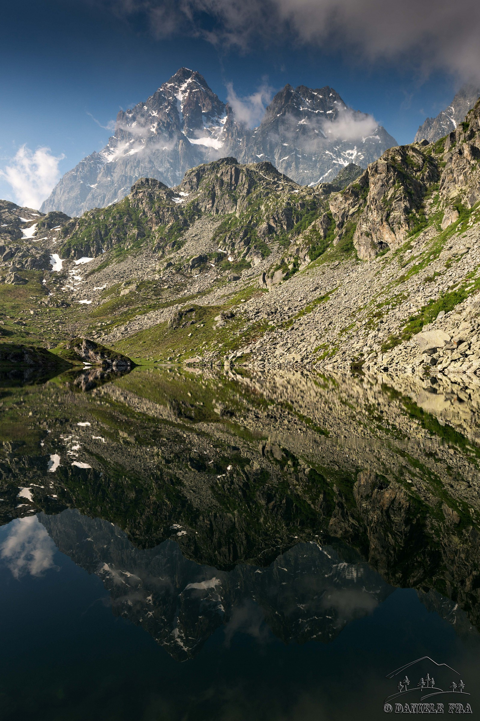 The King of Stone is reflected in Lake Fiorenza...