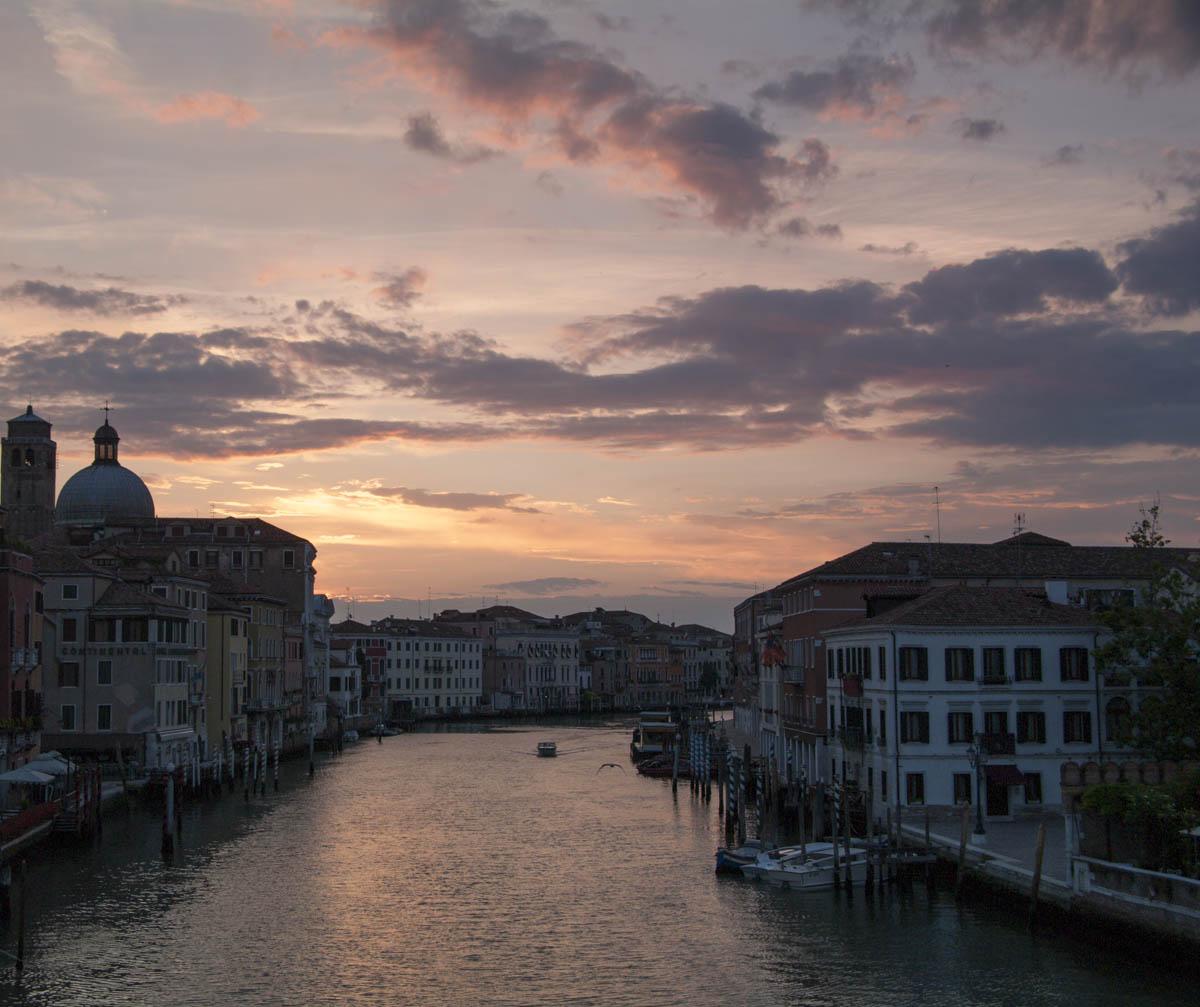 From the railway bridge in Venice...