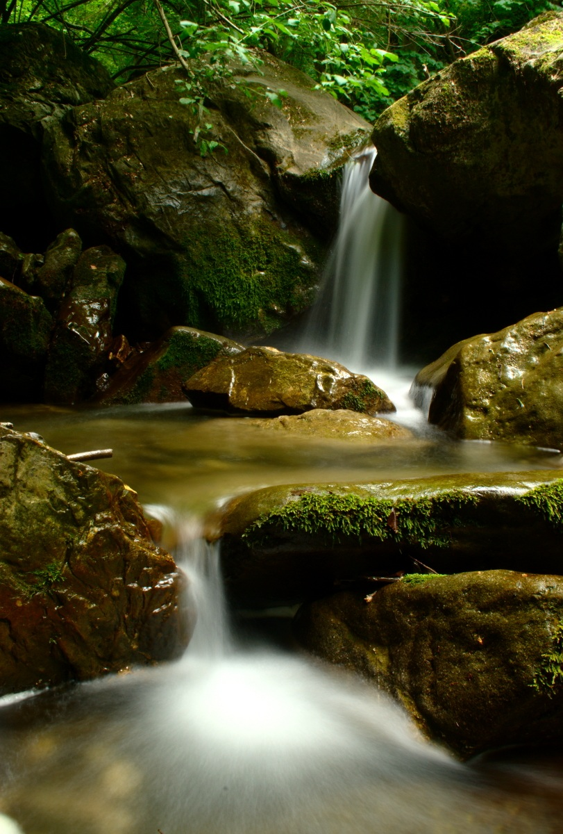 Waterfall stream Arroscia (im)...