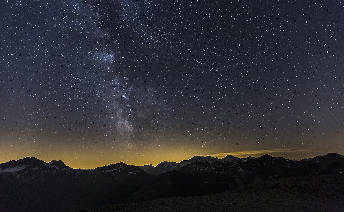 Via Lattea sul Bernina...