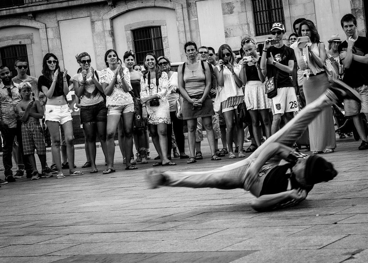 Breakdance in Barcelona...