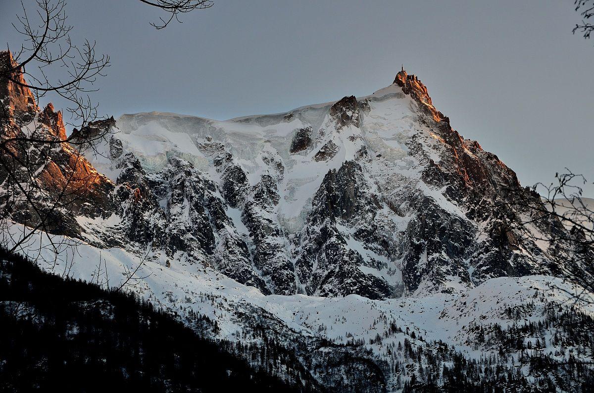 Aiguille du Midi - the sunset -...