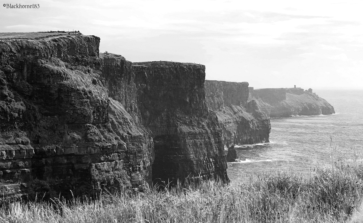 Black & White Cliffs of Moher...