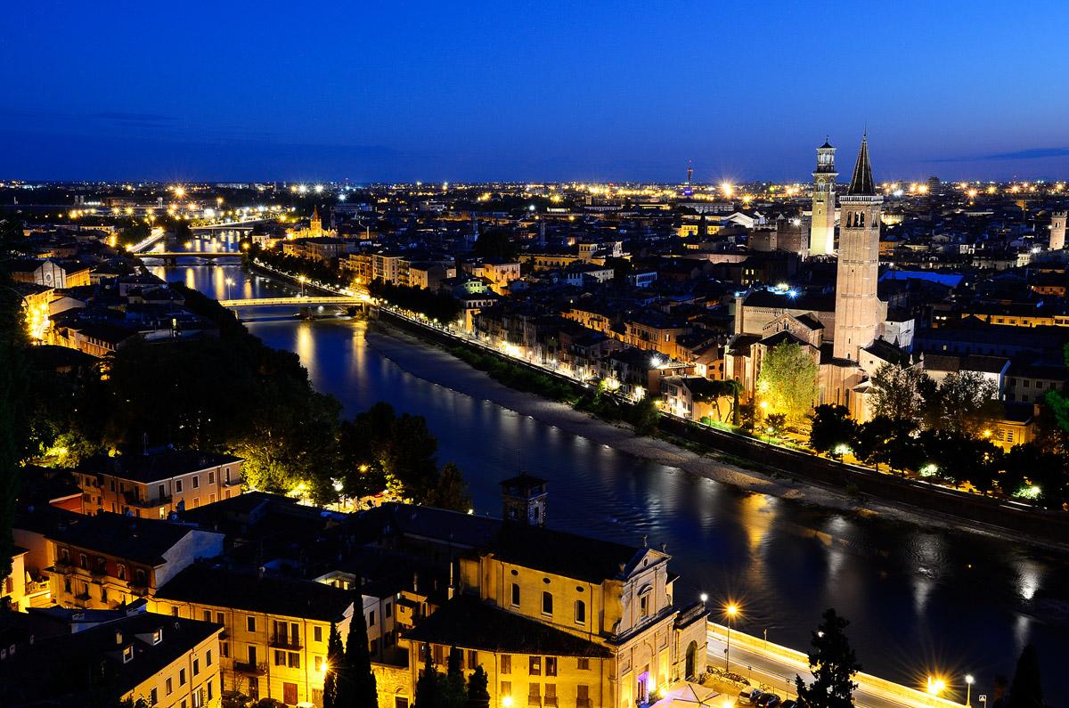 Panorama of Verona...
