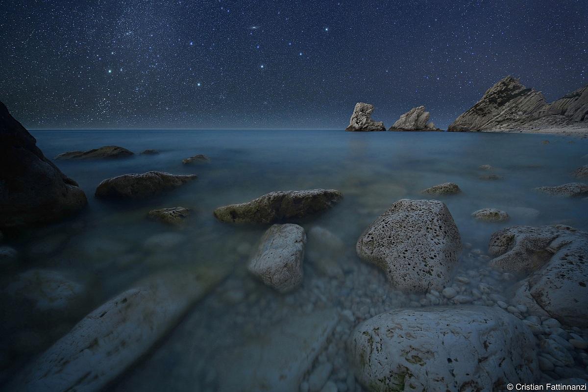 Andromeda on the rocks...
