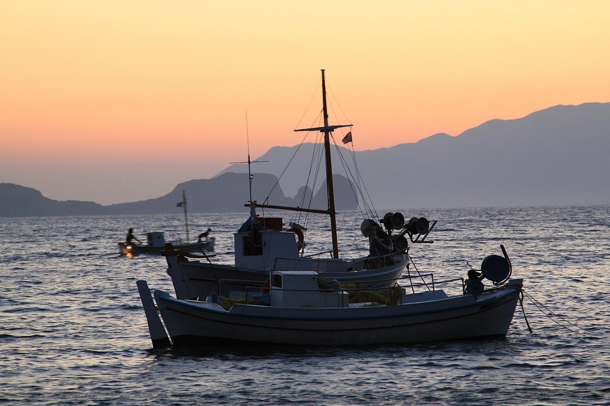 Milos, Tramonto da Villaggio Pescatori...