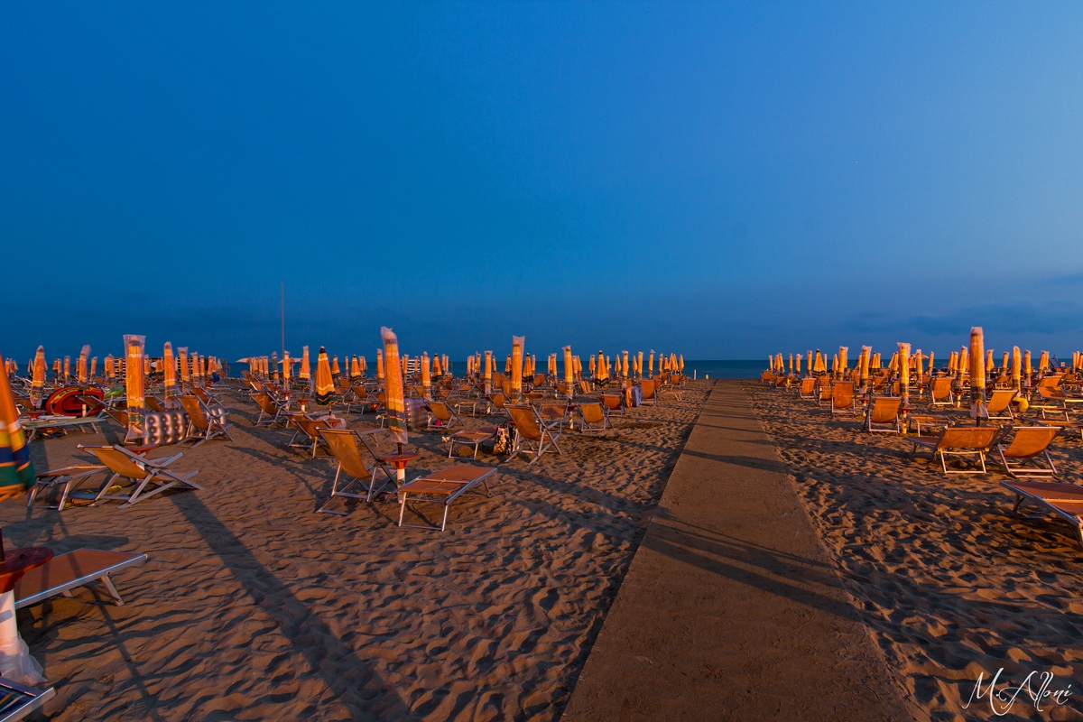 Blue hour in Bibione Plage...