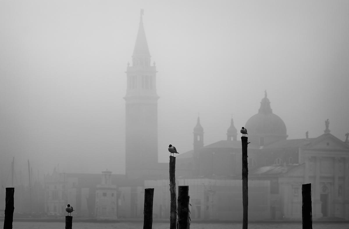 Look at San Giorgio Maggiore (Venice)...
