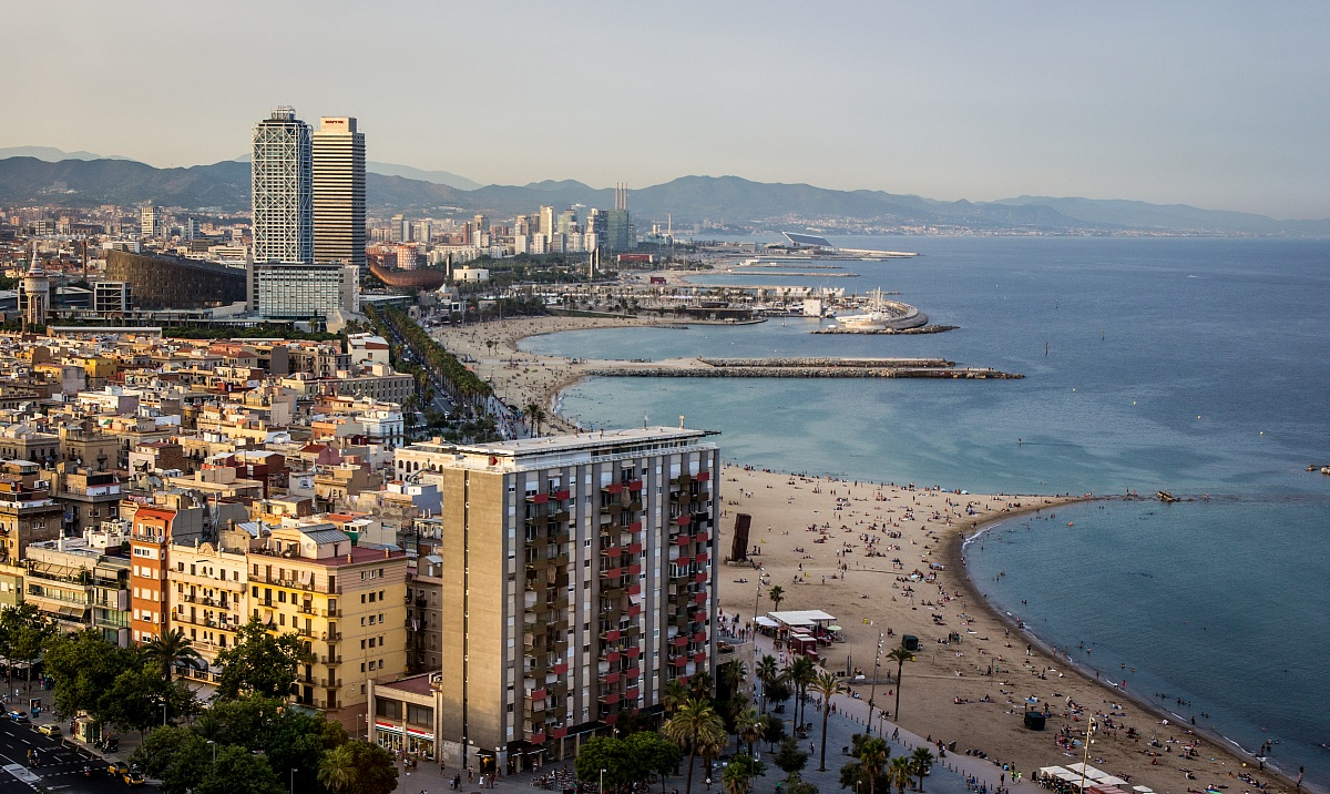 Barcelona view from the Torre de Alta Mar...