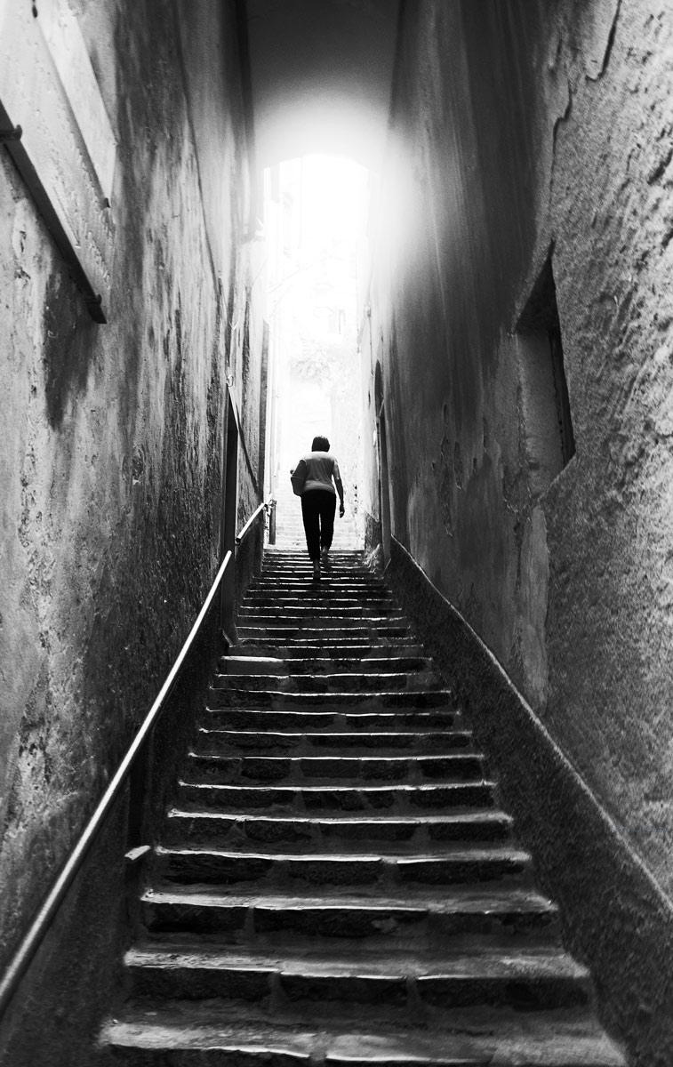 Towards the light ......