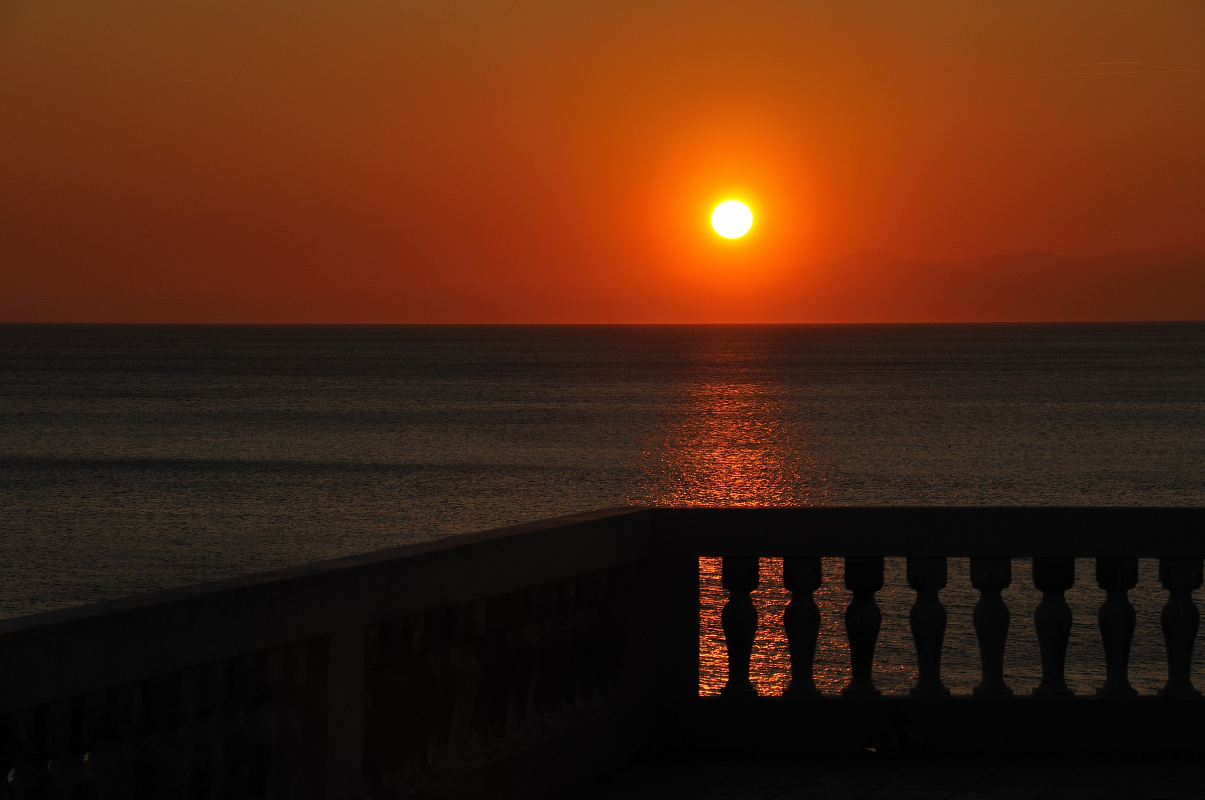 The terrace...