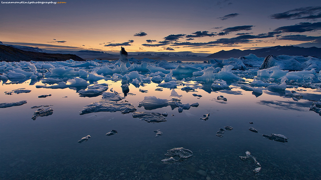 Jokulsarlon sunset...