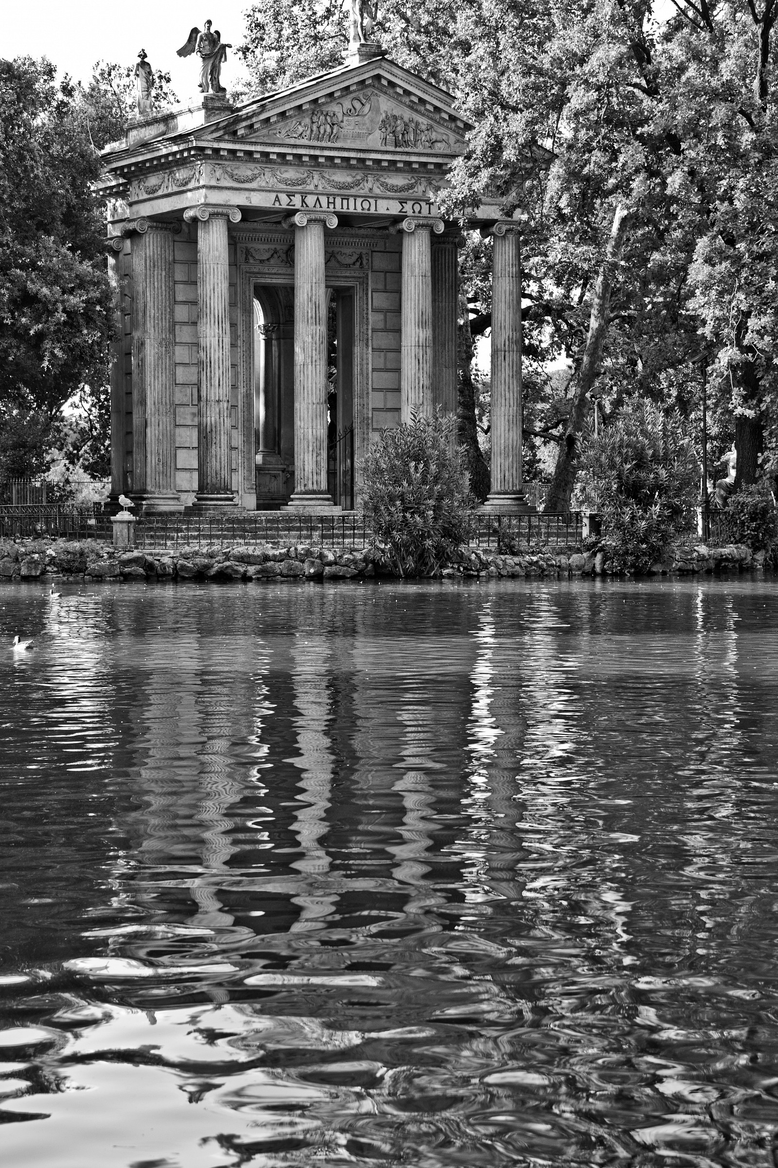 Reflections in Villa Borghese...
