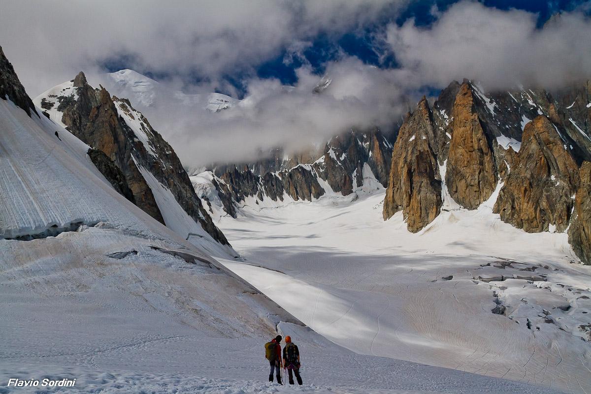 Towards Mont Blanc ......