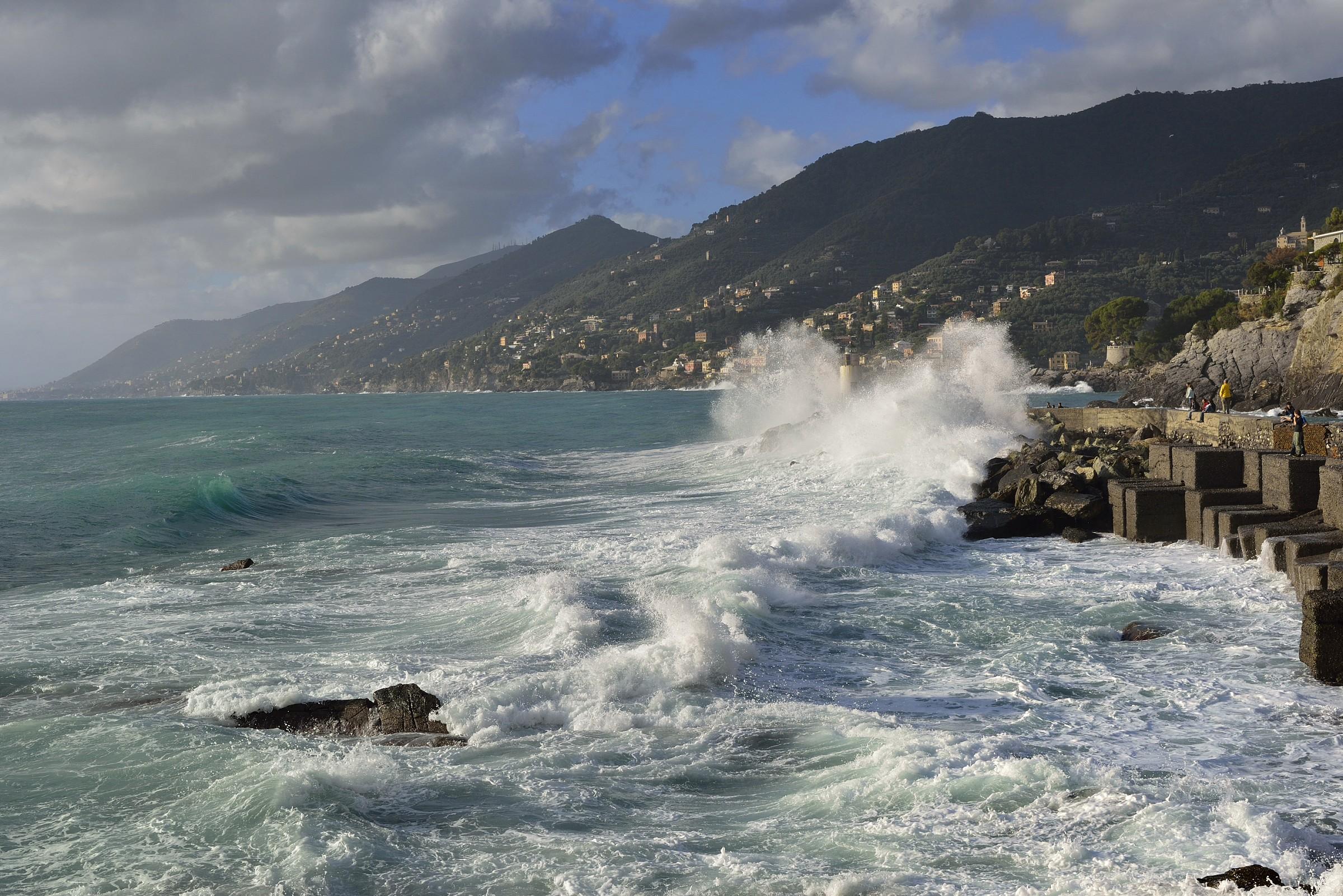 Sea storm in Camogli...