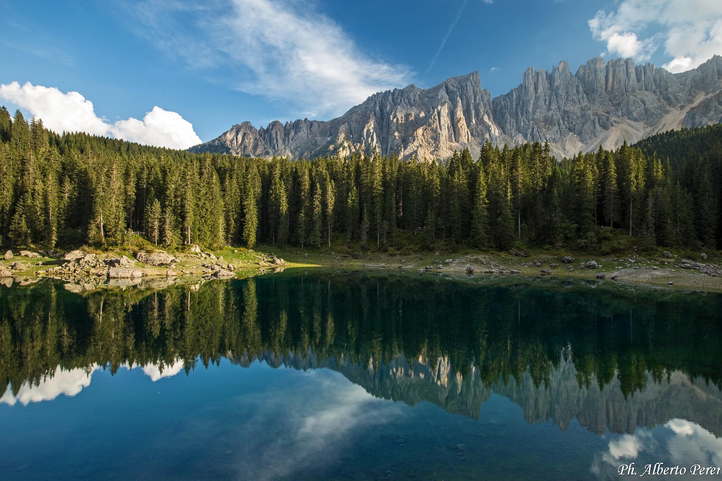 Lago Carezza, gruppo del Latemar...