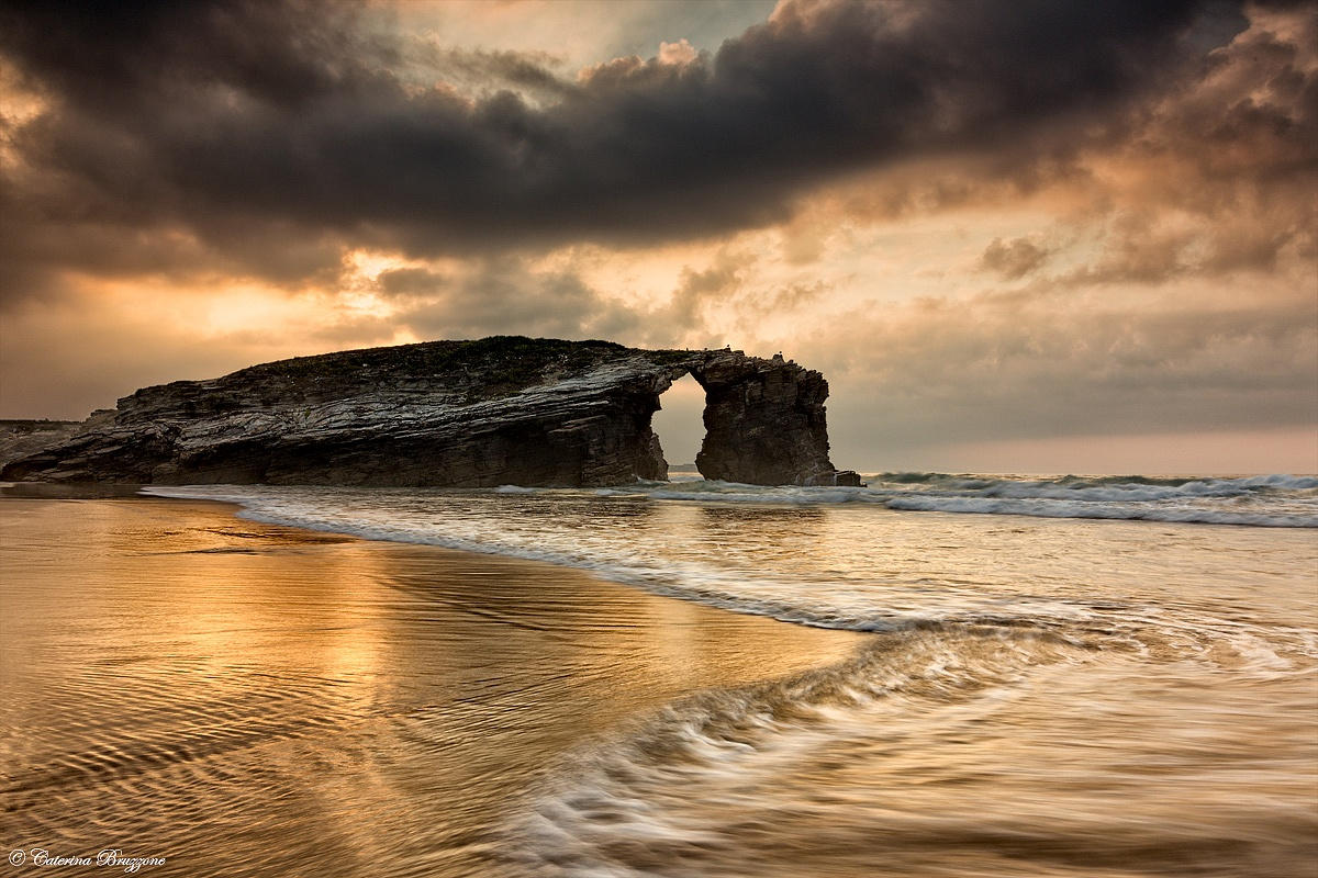 sunset in Playa Catedrales...