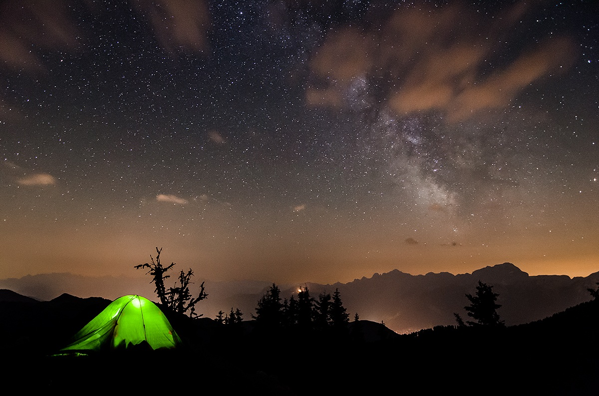 Tent under the stars ......