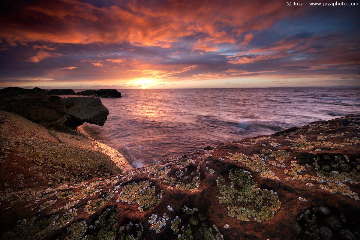 Sunrise on the sea...