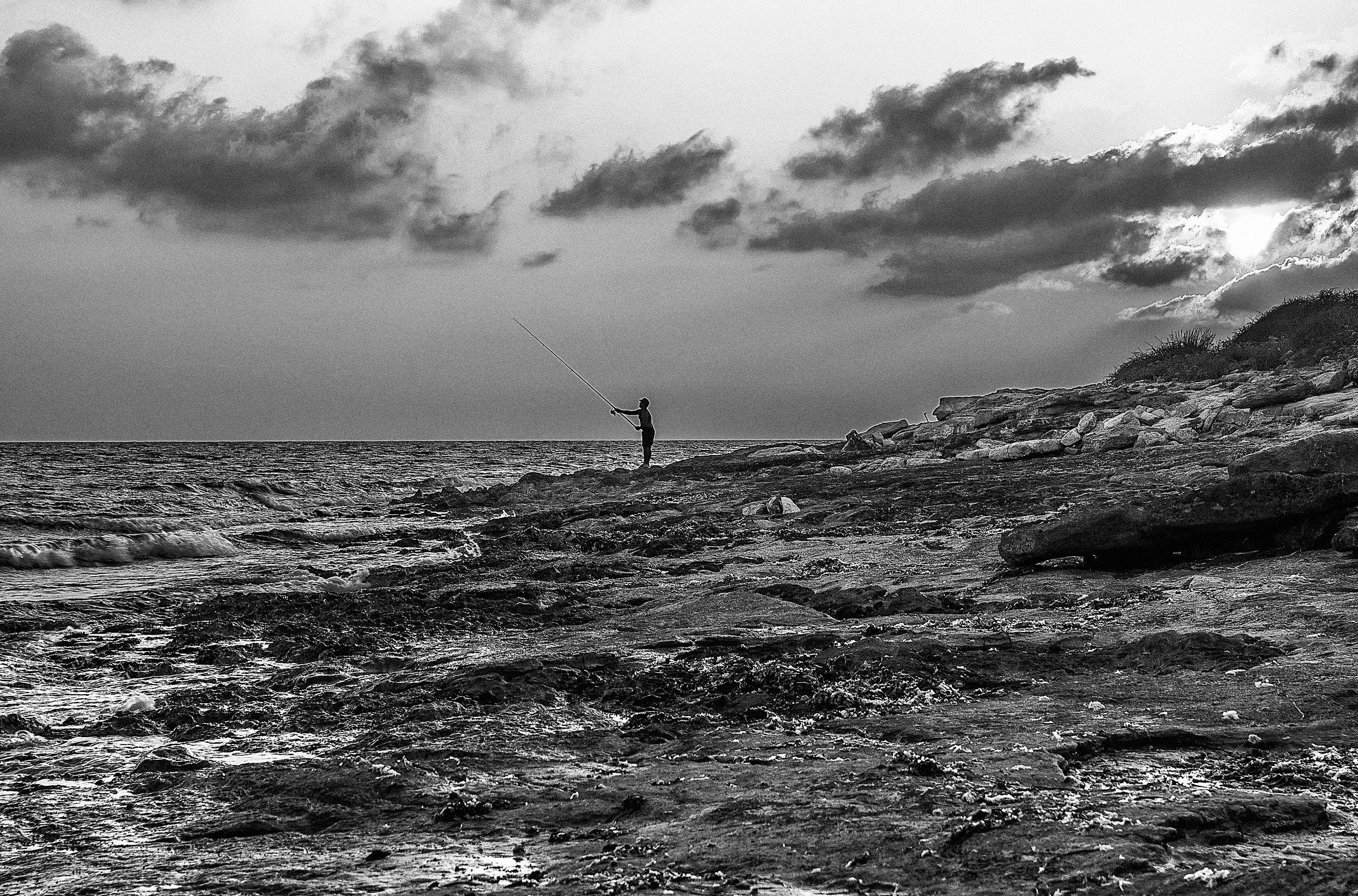 the fisherman b & w...