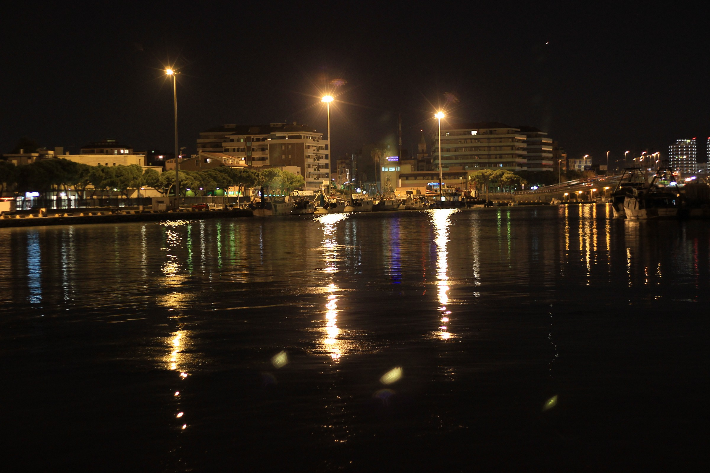 Reflections in the harbor....