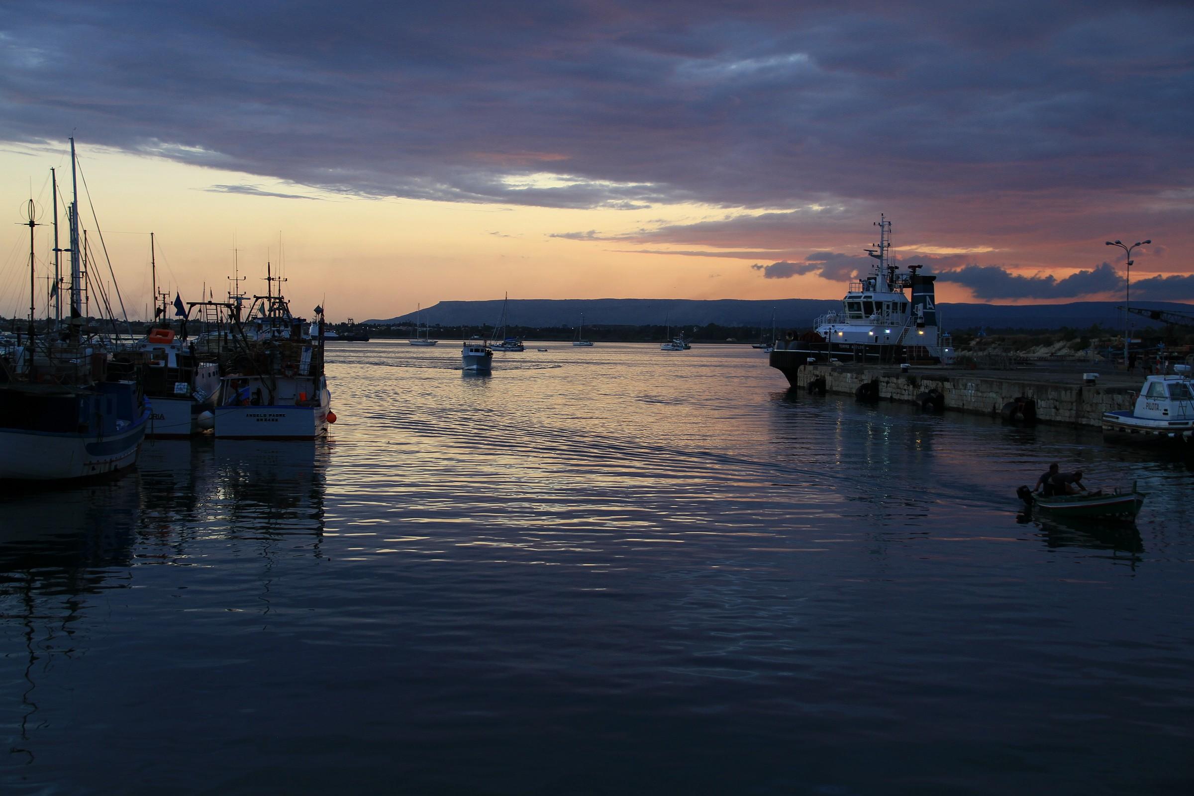 The sunset in Ortigia...