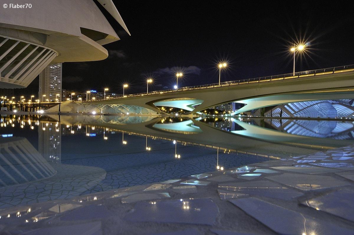 Ciudad de las Artes y las Ciencias notturna 2 Calatrava...