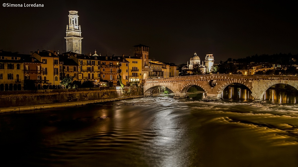 The oldest and most famous bridge in Verona...