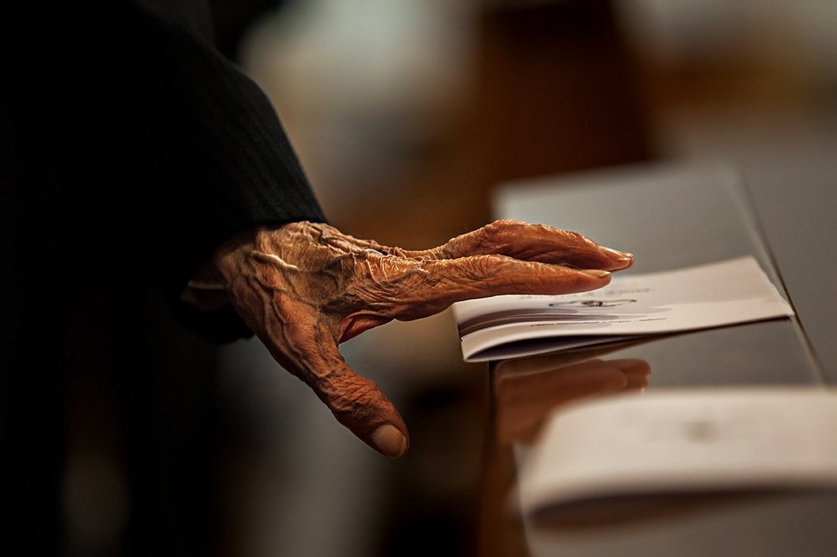 the old and the hand ......