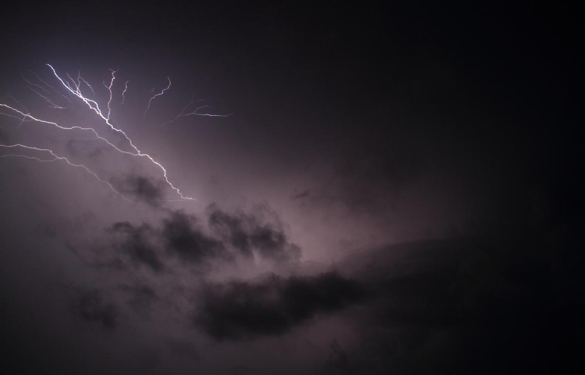 Lightning over the city...
