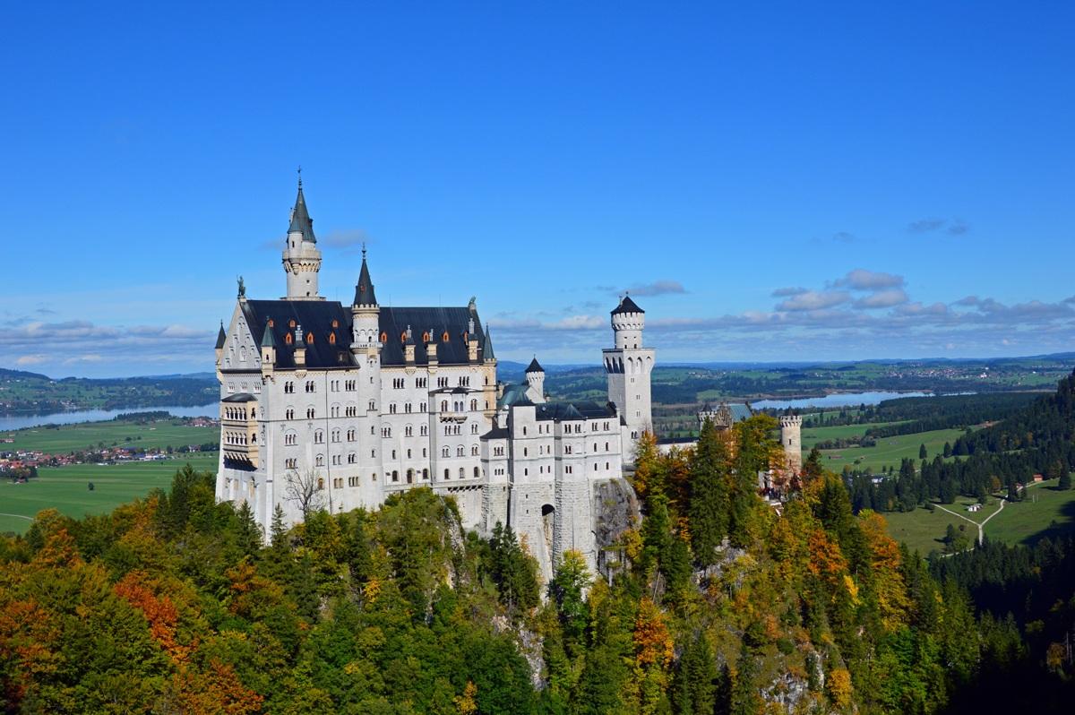 The Neuschwanstein castle...