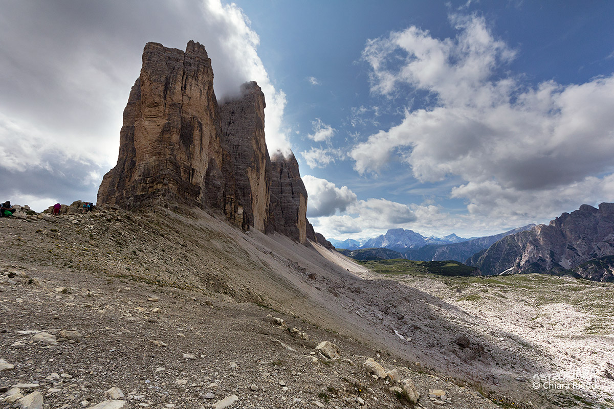 From the saddle Lavaredo...