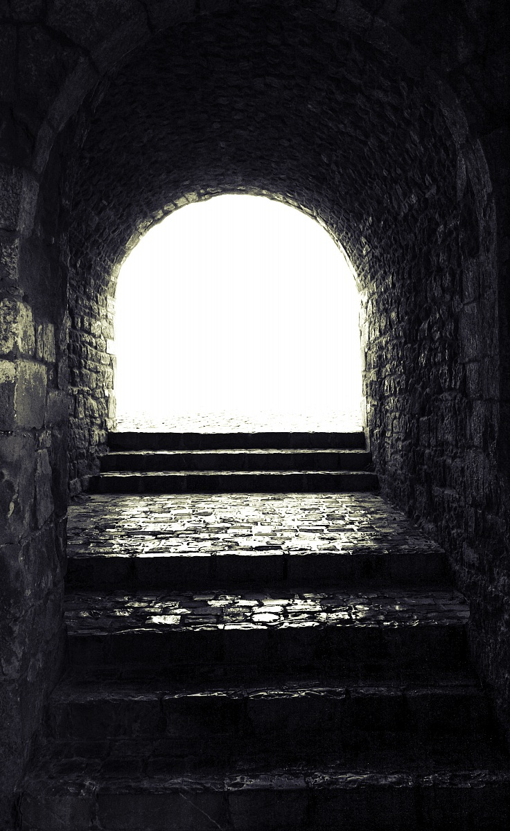 in the bottom of the tunnel...