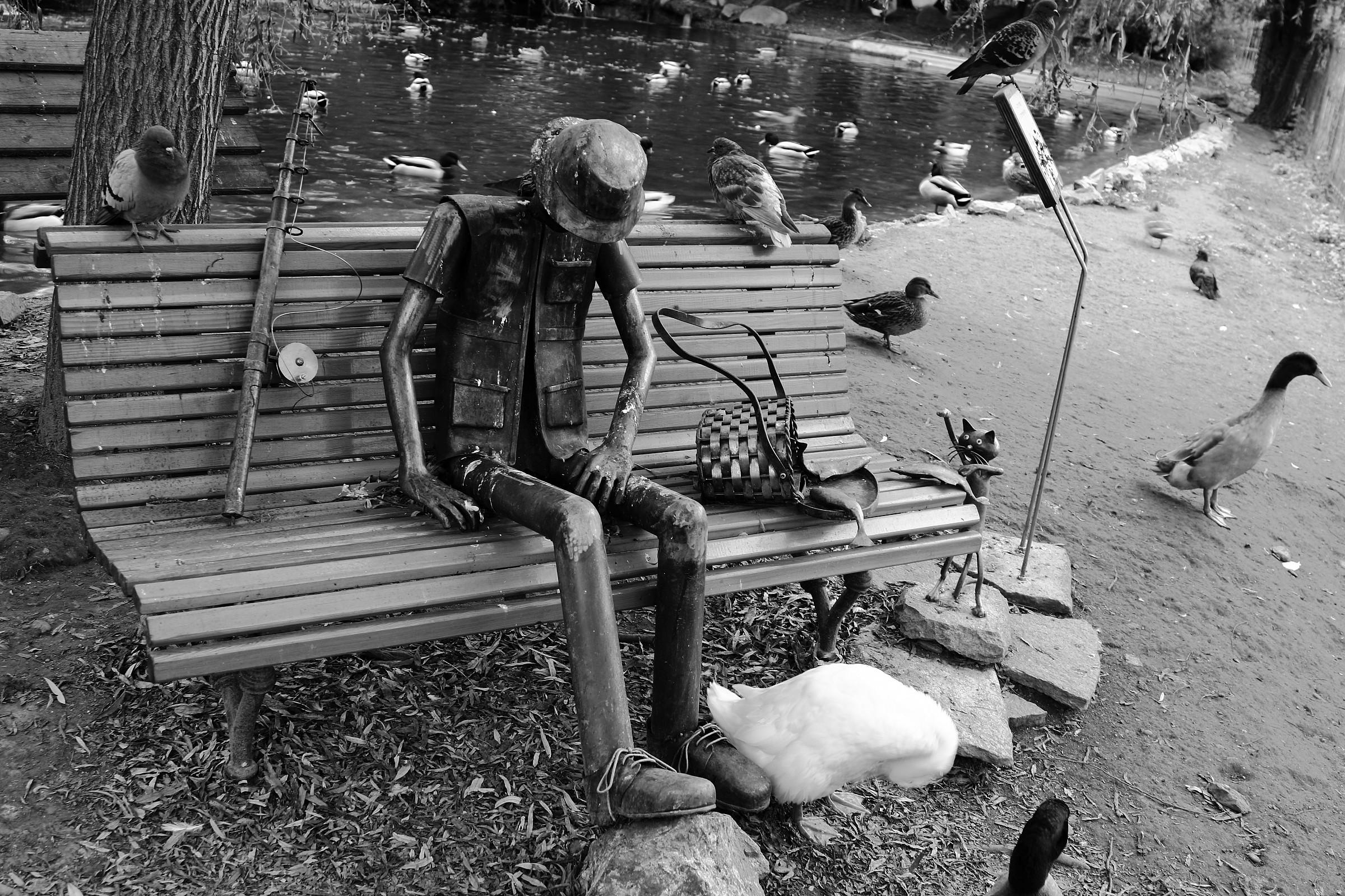 Il pescatore stanco b/w...