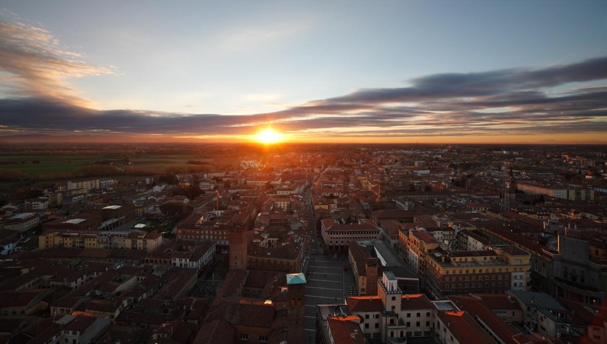 Sunset from the Torrazzo, Cremona...