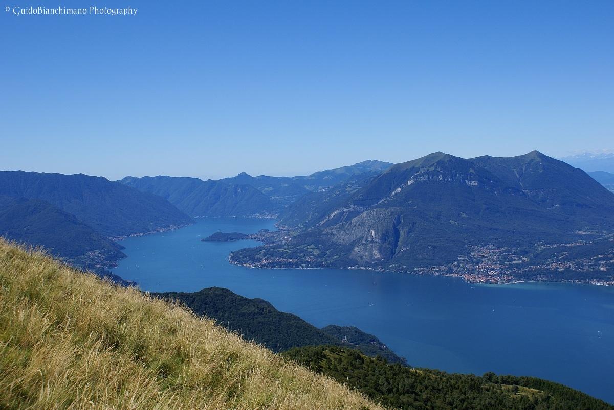 Lake Como seen from the Alps Giumello...