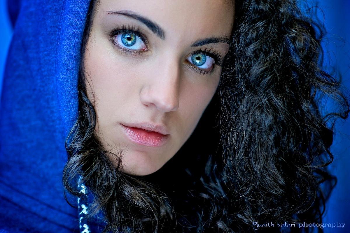 in blue...
