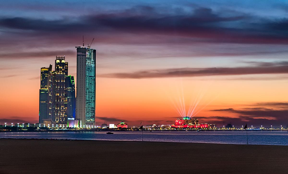Abu Dhabi Corniche Sunset...