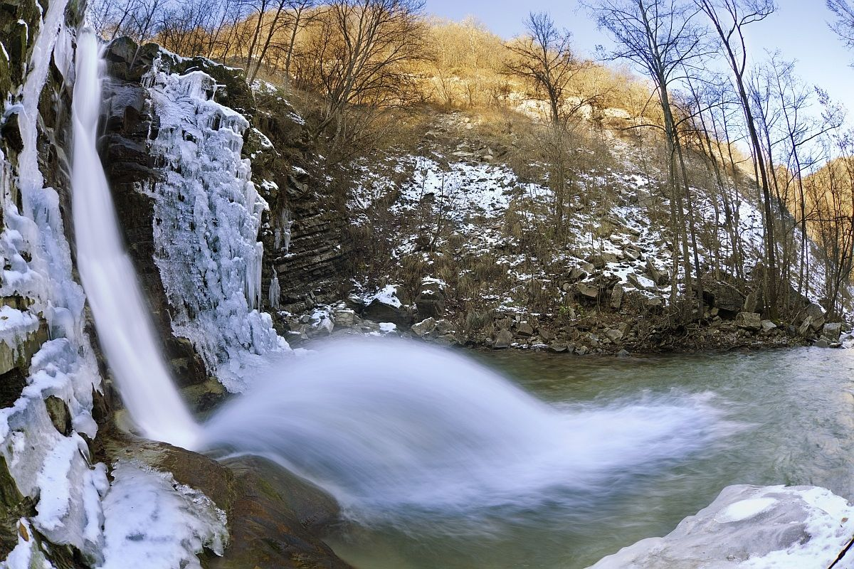 The second waterfall of Perino...