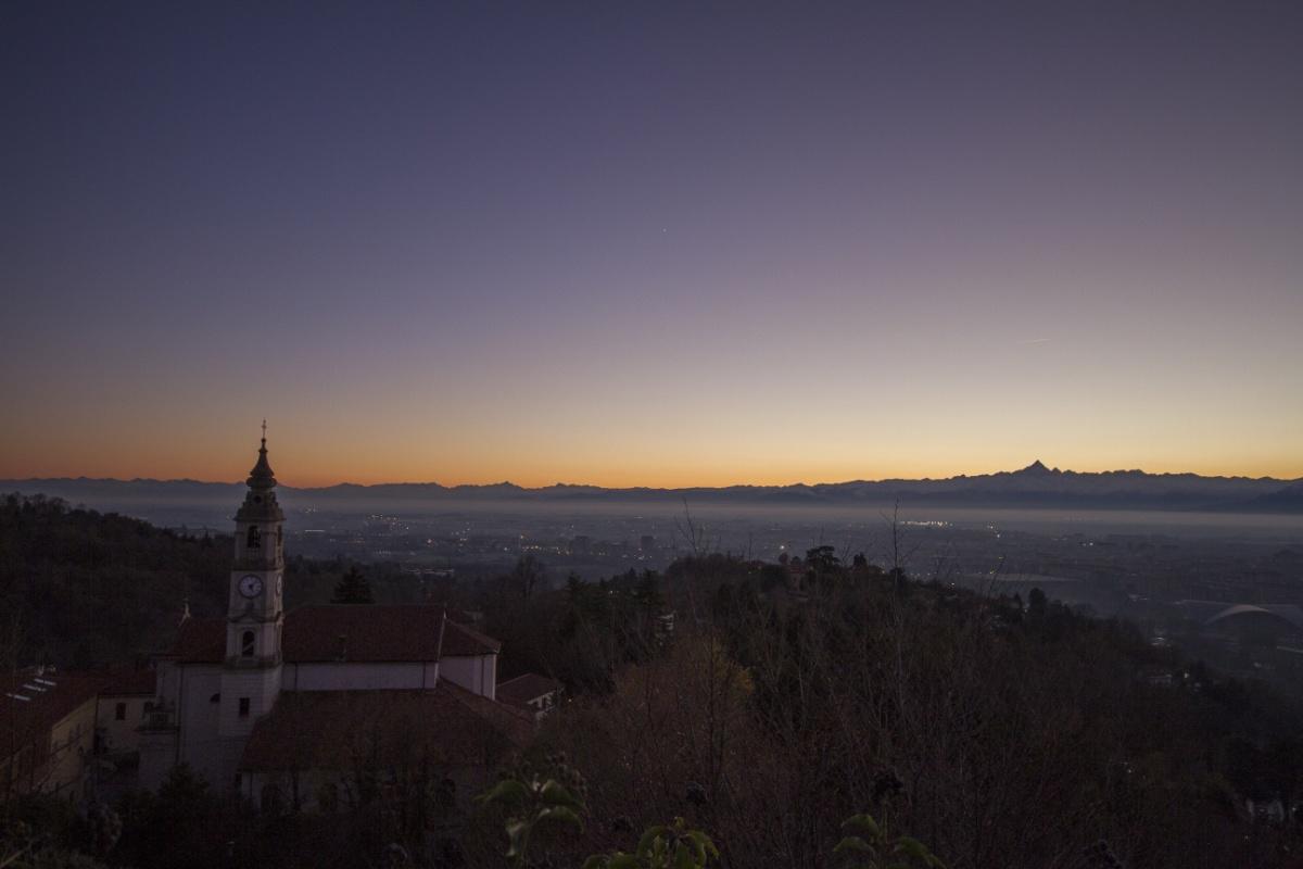 Turin at nightfall...
