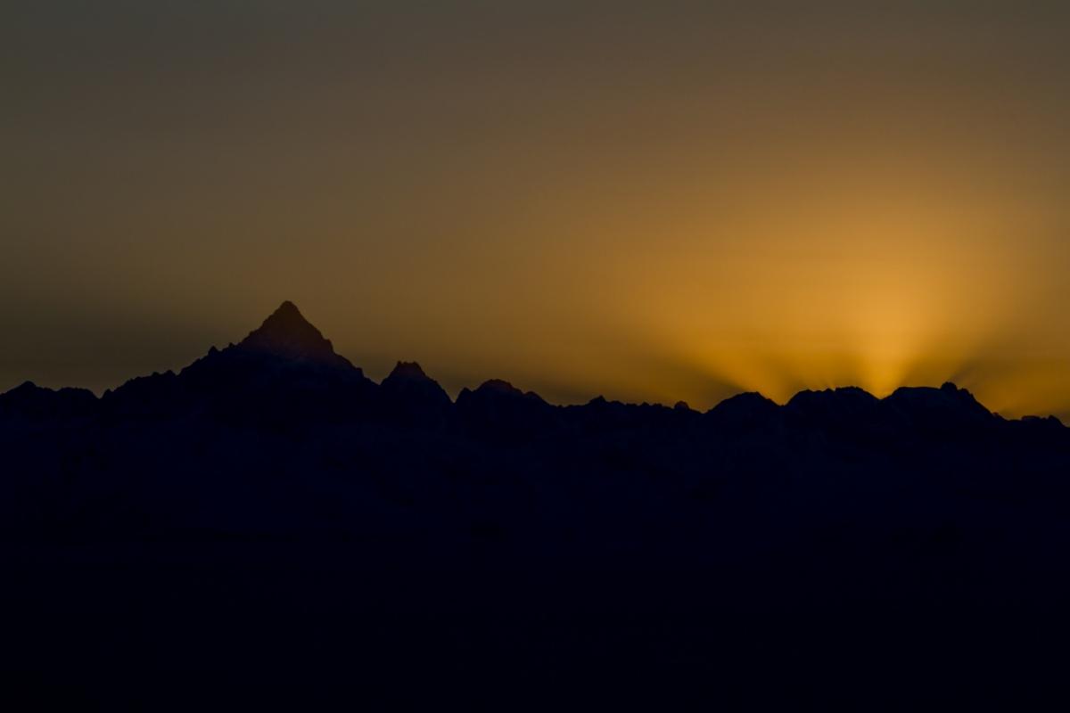 Sunset on the Monviso...