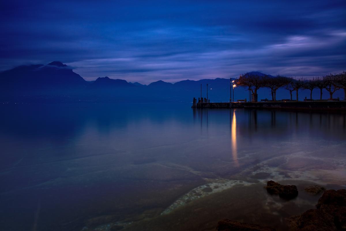 Blue Garda, Torri del Benaco: the pier...