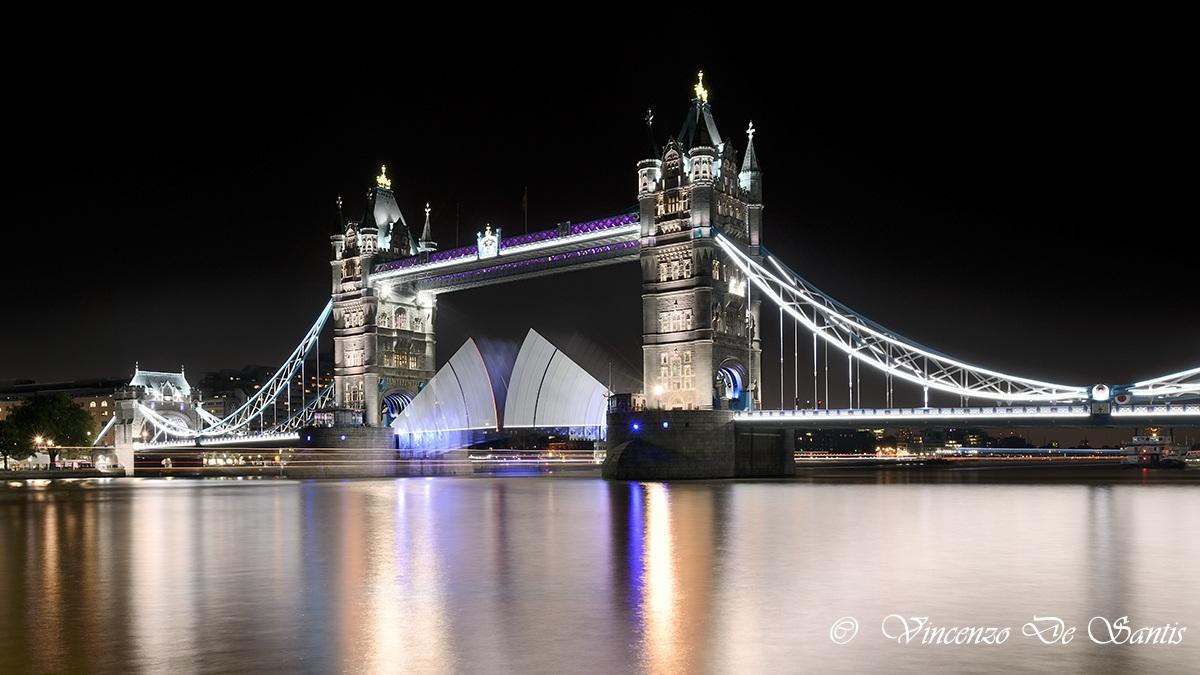 Tower Bridge open...