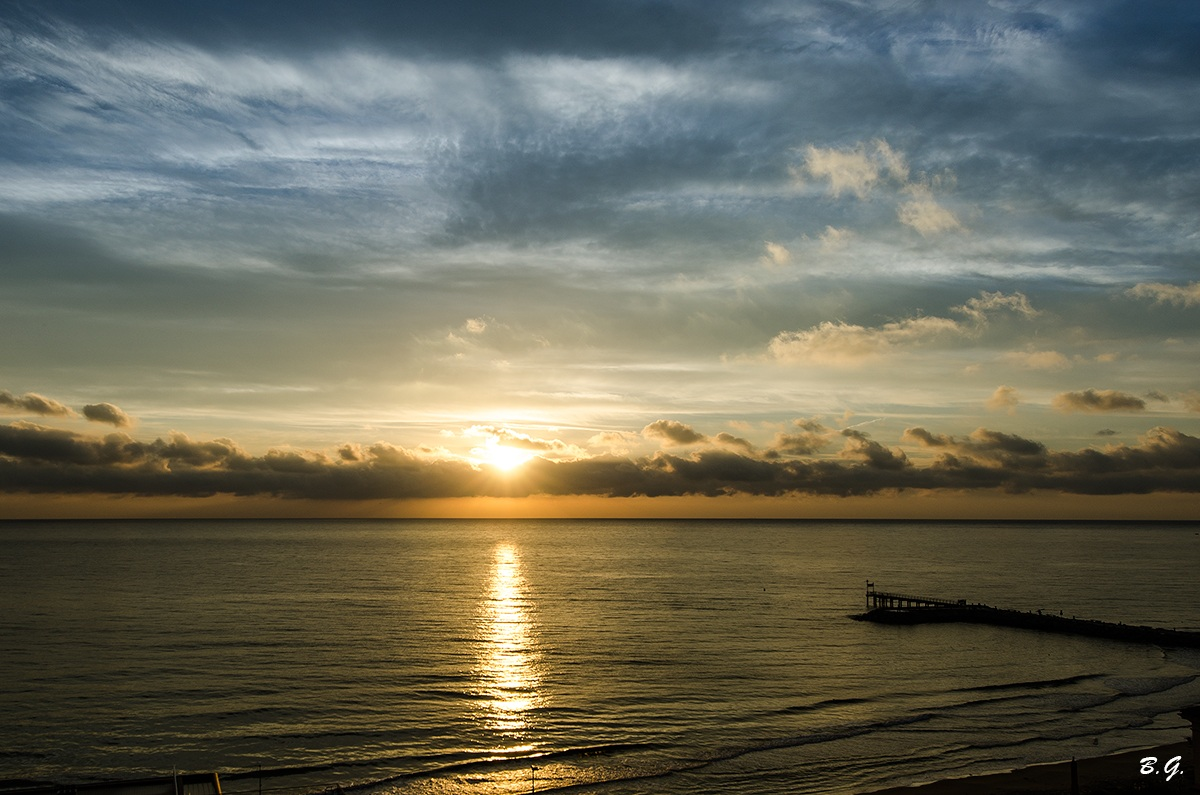 An amazing sunrise at the beach ......