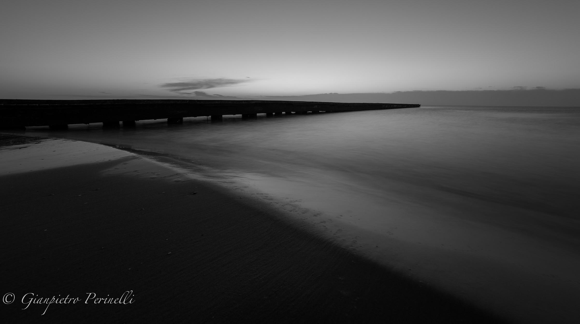 IL mare d'inverno bianco&nero...