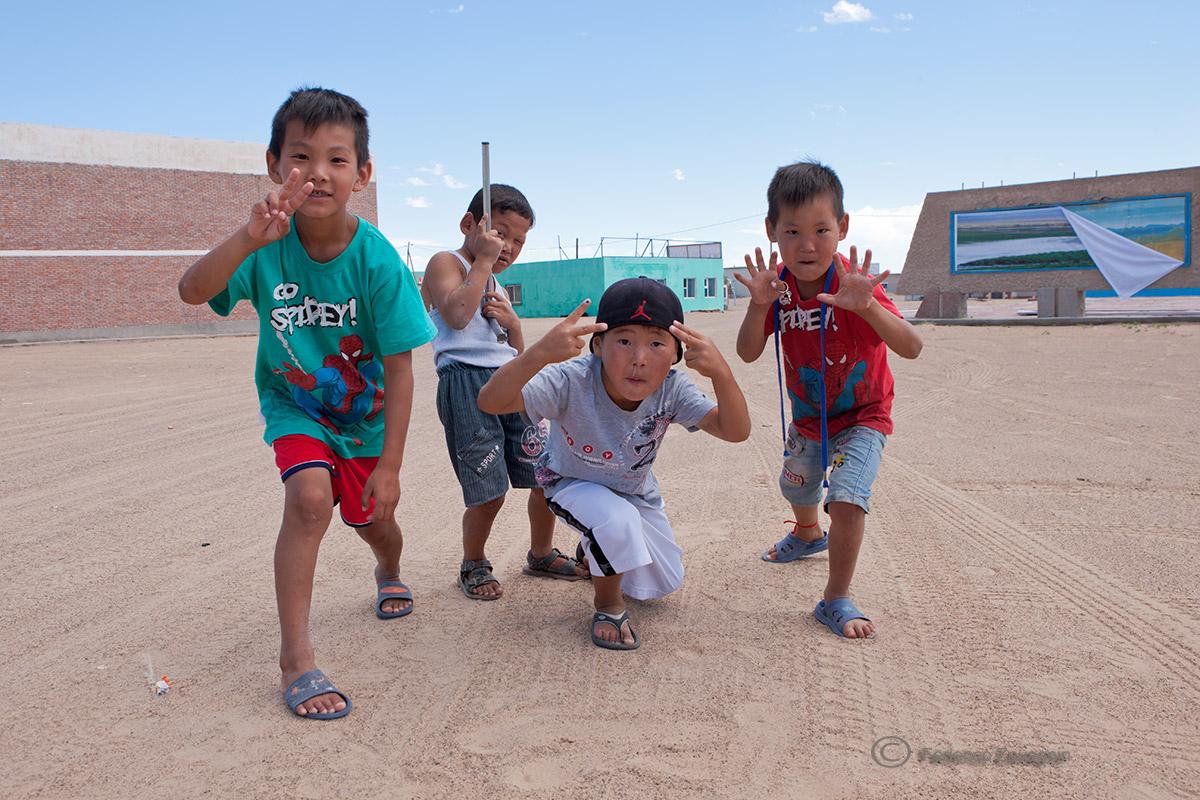 Mongol boys...